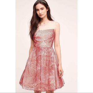 NWT Anthropologie Eva Franco Renee Dress Red Puff